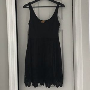 Black sundress with embroidered bottom